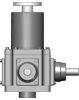 Upright Bevel Ball Actuator configuration