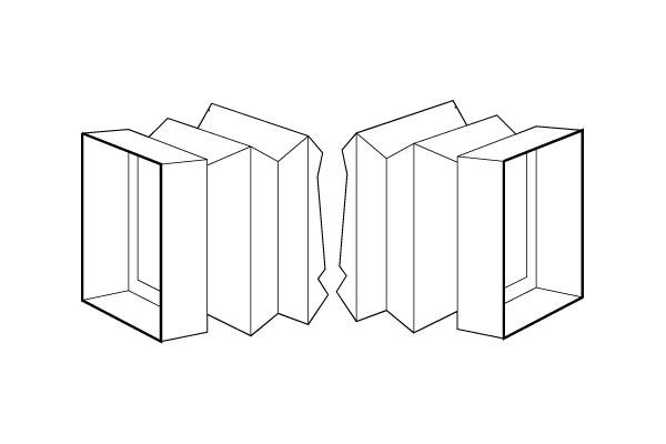 square-rectangular collar/square-rectangular collar
